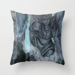 Waterfall Village Throw Pillow