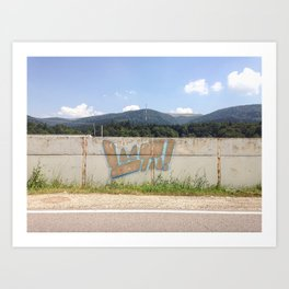 URBAN IN THE COUNTRY Art Print
