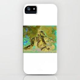 Brazilian jiu jitsu painting with fire background iPhone Case