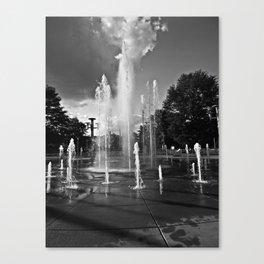 Worlds Fair Park Fountains 4 Canvas Print