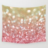 champagne Wall Tapestries featuring Champagne Tango by Lisa Argyropoulos