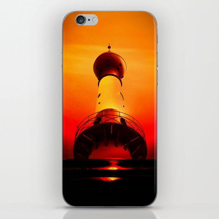 Lighthouse romance iPhone Skin