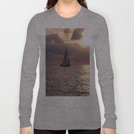 Yacht At Dusk Long Sleeve T-shirt
