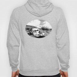 Desert Skull in Black and White Photography Hoody