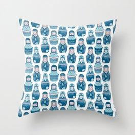 Matrioshkas Pattern Throw Pillow