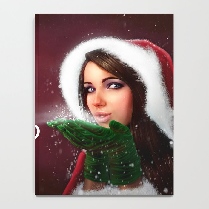 Lady Christmas Notebook