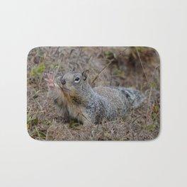 squirrel salute Bath Mat