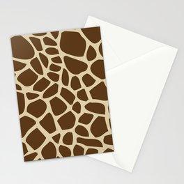 Giraffe Print Pattern Stationery Cards