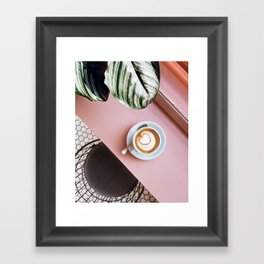 pink latte Framed Art Print