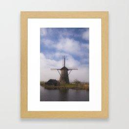 Kinderdijk Windmill III Framed Art Print