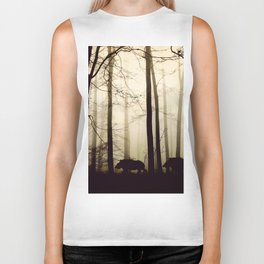 Night in the forest Biker Tank