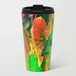 Abstract Amaryllis Travel Mug