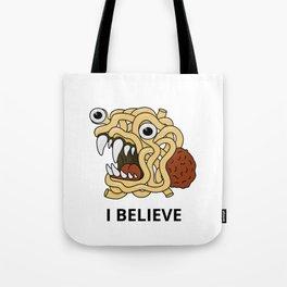 The flying spaghetti monster Tote Bag