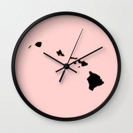 Hawaii map Wall Clock