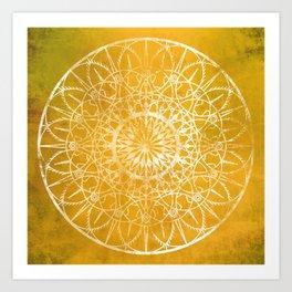 Fire Blossom - Yellow Art Print