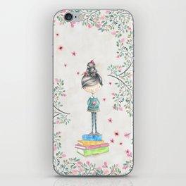 Bookish Girl Watercolor iPhone Skin