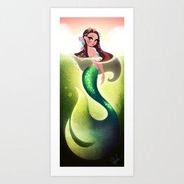 Murky Mermaid Art Print