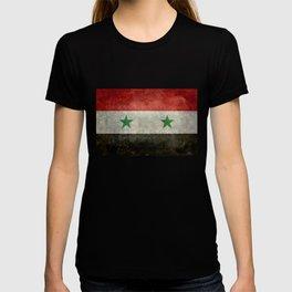 National flag of Syria - vintage T-shirt
