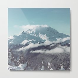 Misty Mountian Metal Print