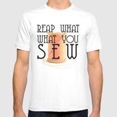 reap what you sew Mens Fitted Tee White MEDIUM
