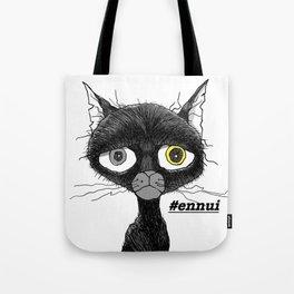 Ennui Black Cat Tote Bag
