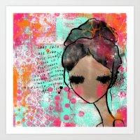 keep calm Art Prints featuring keep calm by SannArt
