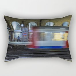 All Go At The London Underground Rectangular Pillow