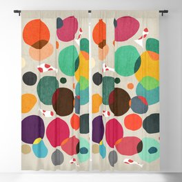 Lotus in koi pond Blackout Curtain