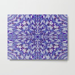 Purple and White Spray Pattern Metal Print