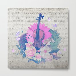 """VIOLIN by collection """"Music"""" Metal Print"""