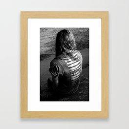 torn by scorn Framed Art Print