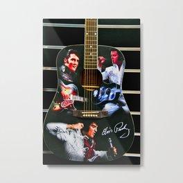 Elvis Presley Guitar Metal Print