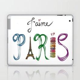 J'aime Paris - Eiffel Tower and Macaron Photograph and Illustration Laptop & iPad Skin