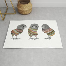 Baby chicken knit Rug