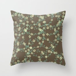 Stringy Flowers Pattern Throw Pillow