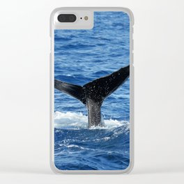 Whale Fluke Clear iPhone Case