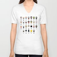 movies V-neck T-shirts featuring Horror Movies Alphabet by PixelPower