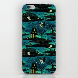 Halloween Night - Fox Fire Green iPhone Skin