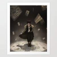tarot Art Prints featuring Tarot Theater by tony dimauro