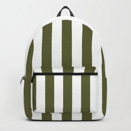 Terrarium Moss Green Beach Hut Vertical Stripe Fall Fashion Backpack