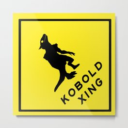 Kobold X-ing Metal Print
