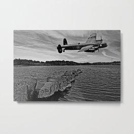 Avro Lancaster Bomber KB726 Metal Print