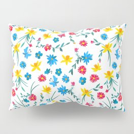 Coloful flowers Pillow Sham