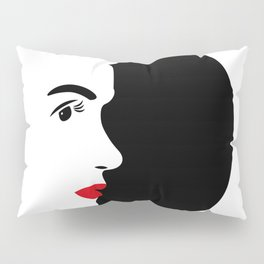 Profile of Marylin in Black and White Pillow Sham