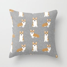 Corgis - Cute corgi, dog pet, corgi decor, corgi pillow, corgi bedding, corgi pattern, cute corgi Throw Pillow