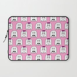 Cute Ghosts in Pink Laptop Sleeve