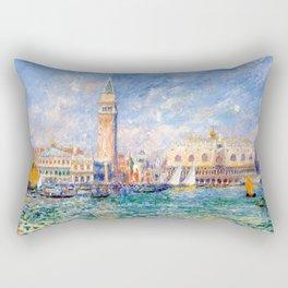 """Auguste Renoir """"Vue de Venise (Le Palais des Doges)"""" Rectangular Pillow"""