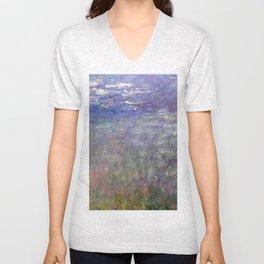 1926-Claude Monet-Water Lilies-199 x 425 Unisex V-Neck