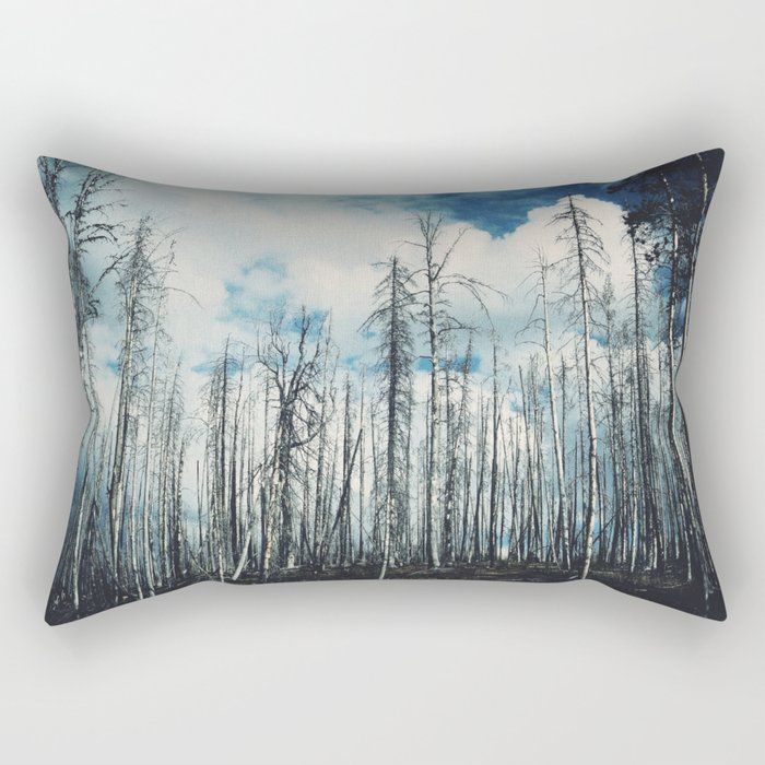 Grainy Trees Rectangular Pillow