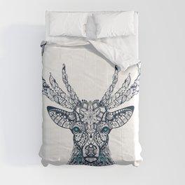 Figure Of Deer Pattern, Ornament, Leaves And Flowers Comforters